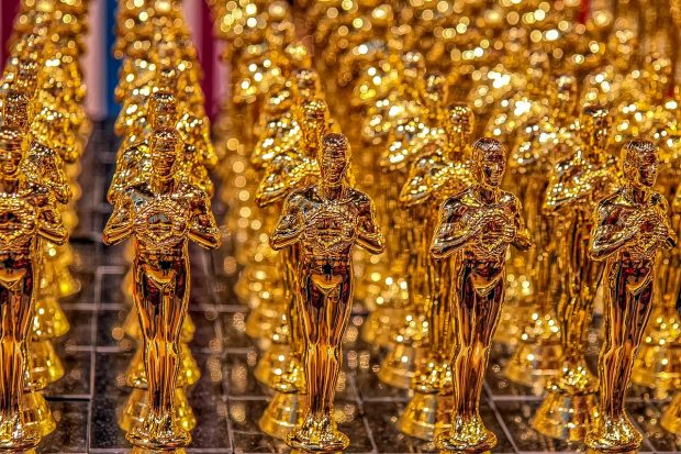 image of the Oscar award trophies